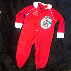 🇺🇸 Vintage Stork Craft First Christmas outfit